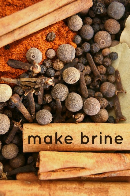 how to make brine - spices - peppercorns - cloves - paprika - cinnamon sticks -allspice berries | cookingontheweekends.com