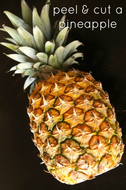Peel and Cut Pineapple
