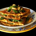 Matzo Brei a la florentine-green-yellow-1 | cookingontheweekends.com