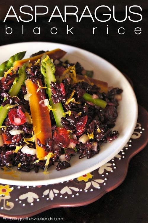 Lemon-Asparagus Black Rice Salad