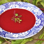The Best Beet Soup-blue-bowl-micro greens