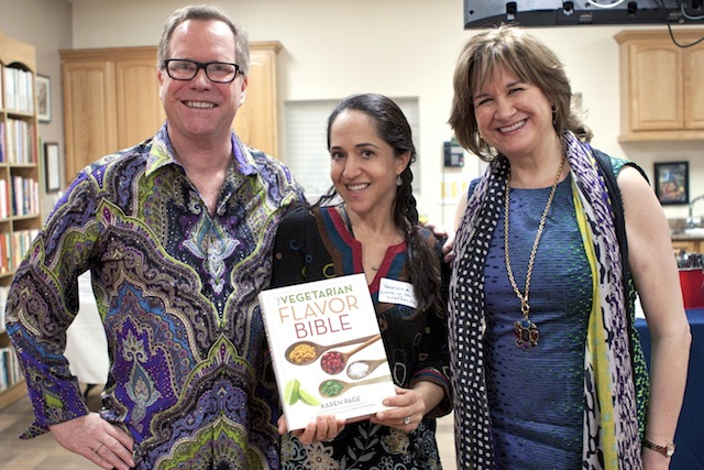 Valentina with the authors of the Vegetarian Flavor Bible.