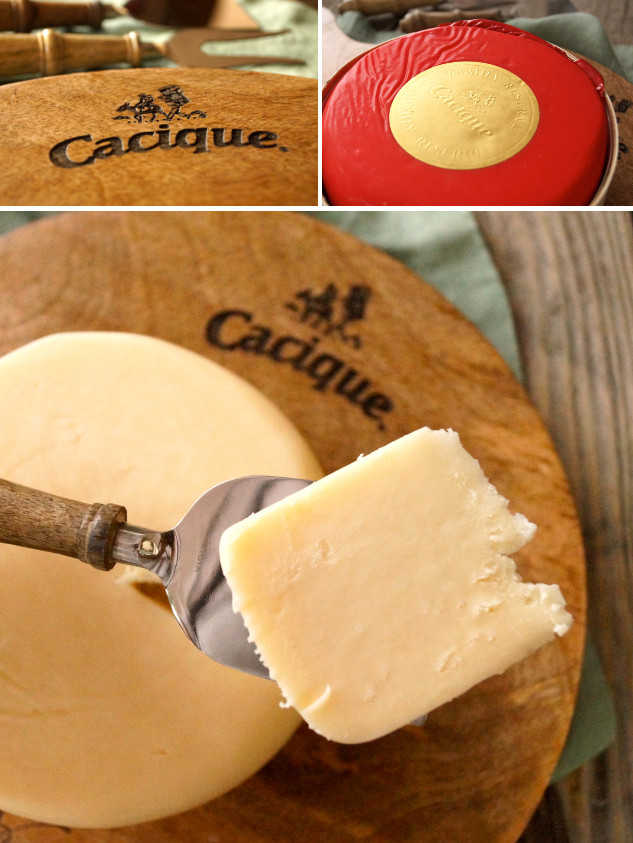 CACIQUE Cheese and cutting board
