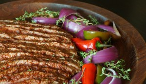 April 6-Red Goddess Flank Steak-meat-red-purple 2