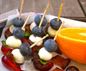 Cherry Bacon Blueberry Kebabs Recipe