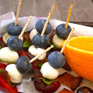 Cherry Bacon Blueberry Kebab Recipe