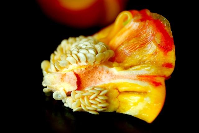 inside of Enjoya pepper with seeds
