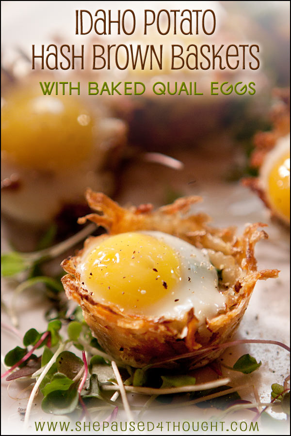 Hash Brown Baskets with an egg on top