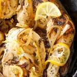 Skillet Braised Chicken Recipe with Caramelized Lemon-Shallot-Sauce