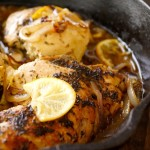 Skillet Braised Chicken Recipe with Caramelized Lemon-Shallot Sauce