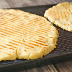 gluten-free pizza crust on the grill