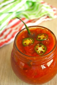 Spicy Serrano Tomato Preserves Recipe