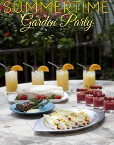 Summertime Garden Party Menu