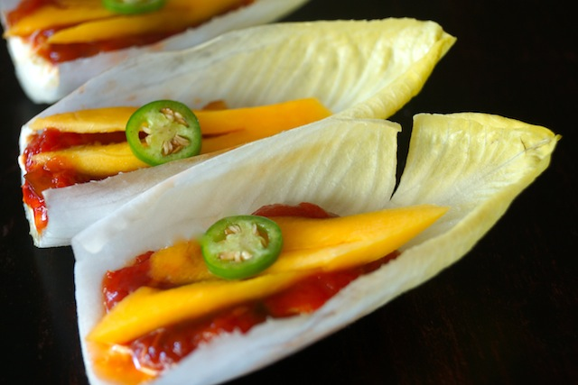 Sweet and Spicy Tomato-Mango, Goat Cheese Appetizer Recipe