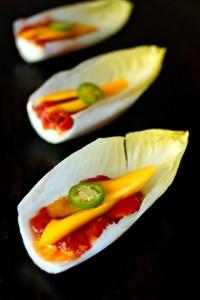 Sweet & Spicy Tomato Mango Goat Cheese Appetizer Recipe