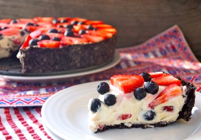 No-Bake Red, White & Blue Cheesecake Recipe