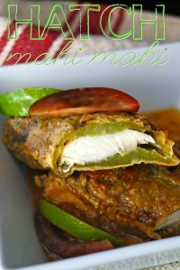 Mahi Mahi Stuffed Hatch Chiles & Tomato Lime Sauce