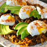 Perfect Poached Eggs Over Double Hatch Hash Browns