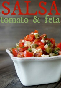 Tomato & Feta Salsa Recipe for Meat or Chicken