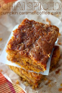 Chai Spiced Pumpkin Caramel Coffee Cake {Gluten-Free Recipe}-text