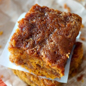 Chai Spiced Pumpkin Caramel Coffee Cake {Gluten-Free Recipe}