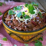 Chocolate Chipotle Colorado Style Chili Recipe - a bowl of comfort!