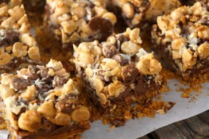 Peanut Butter Pretzel Seven Layer Magic Bars