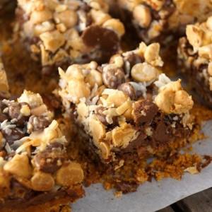 Peanut Butter Pretzel Seven Layer Magic Bars Recipe
