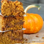 Pumpkin-Chai-Spiced Caramel Coffee Cake - This coffee cake is the ideal way to start a fall morning -- it's warmly spiced, soft, crumbly and full of the delicious flavor of pumpkin.