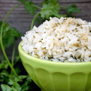 Coconut Cilantro Rice
