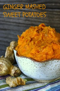 Ginger Mashed Sweet Potatoes Recipe - This quick and easy sweet potato side dish is perfect for fall and lovely for Thanksgiving! It's creamy, rich and packed with warm flavors.