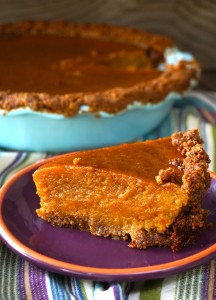Chai Spiced Butternut Squash Pie with Gluten-Free Nut Crust Recipe