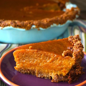 Butternut Squash Pie with Nut Crust