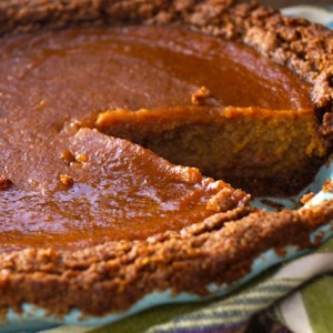 Chai Spiced Butternut Squash Pie with Gluten-Free Pecan-Walnut Crust -- This pie tastes like the perfect blend of pecan pie and pumpkin pie. Only it's neither one and even better!