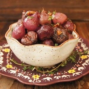 Braised Chestnuts and Pearl Onions