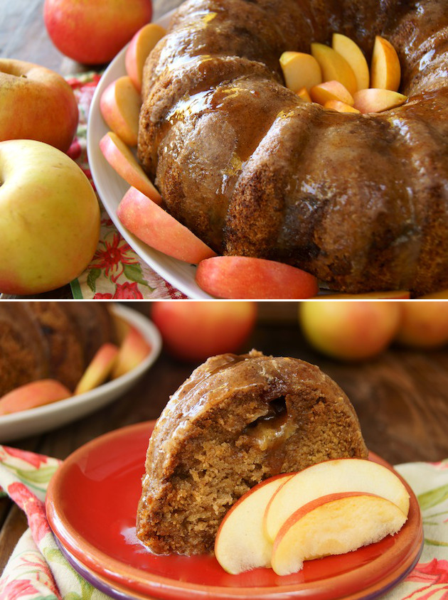 Thanksgiving Dessert Recipes-Fall Chai Apple Cake