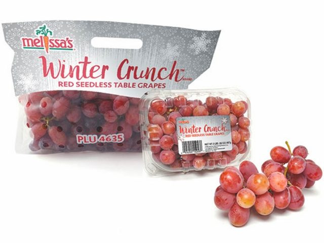 package of winter crunch grapes