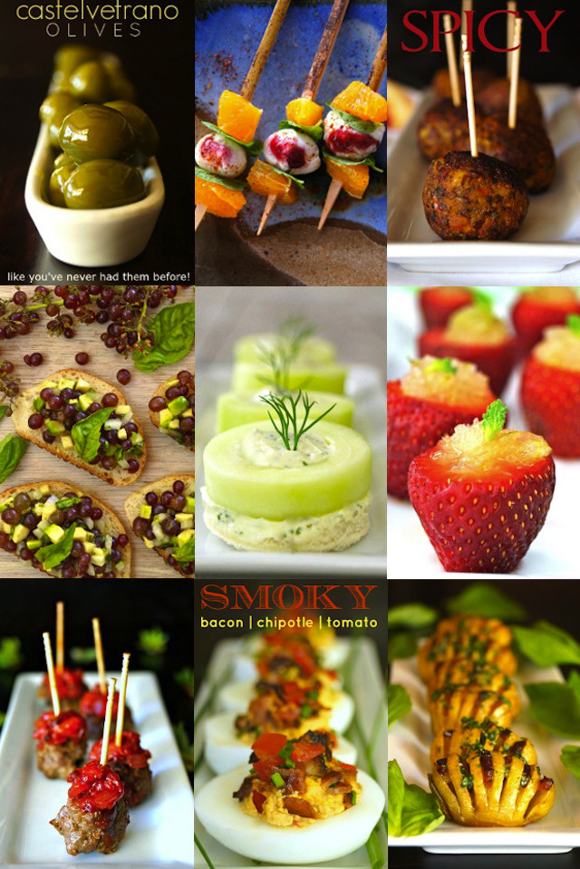 Best Holiday Hors d'Oeuvre Party Recipe in a photo collage
