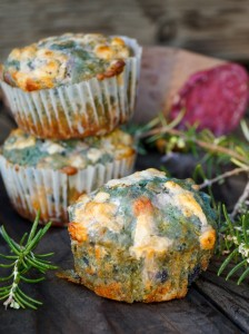 Purple Sweet Potato Rosemary Muffins Recipe