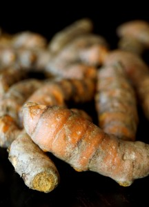 Several pieces of fresh turmeric