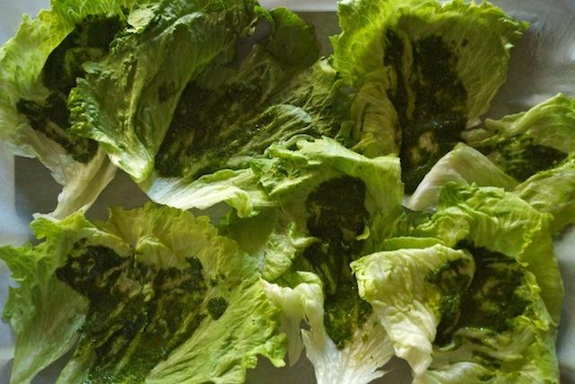 Spiced Pork and Mango Chimichurri Lettuce Wraps Recipe