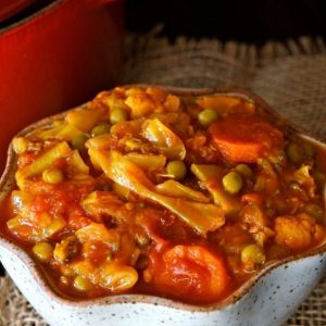 Cabbage Stew with Turmeric