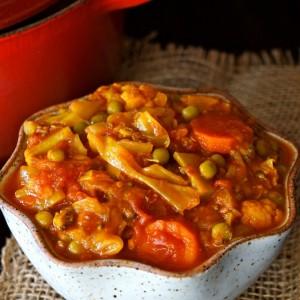 Vegan Tomato-Turmeric Cabbage Stew Recipe