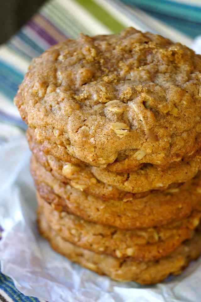 stack of Brown Butter Oatmeal Breakfast Cookies