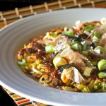 Yakisoba Omelet Recipe- Bursting with umami flavors, this is a super hearty, rich and delicious comfort food like no other.
