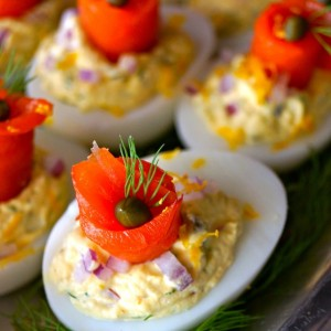 The Best Smoked Salmon Deviled Eggs Recipe
