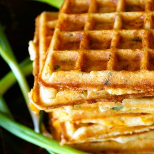 Bacon Cheddar Gluten-Free Waffles Recipe -- A savory dinner waffle, that's chock-full of smoky, delicious flavors, and will totally wow everyone at the table!