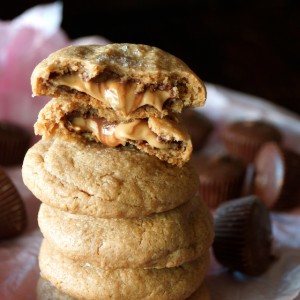 Double Peanut Butter Chocolate Cookies Recipe -- With sweet, creamy peanut butter, a touch of salt and melting chocolate in every bite, this will be the new favorite cookie for all of the peanut butter & chocolate lovers out there! Trust me.