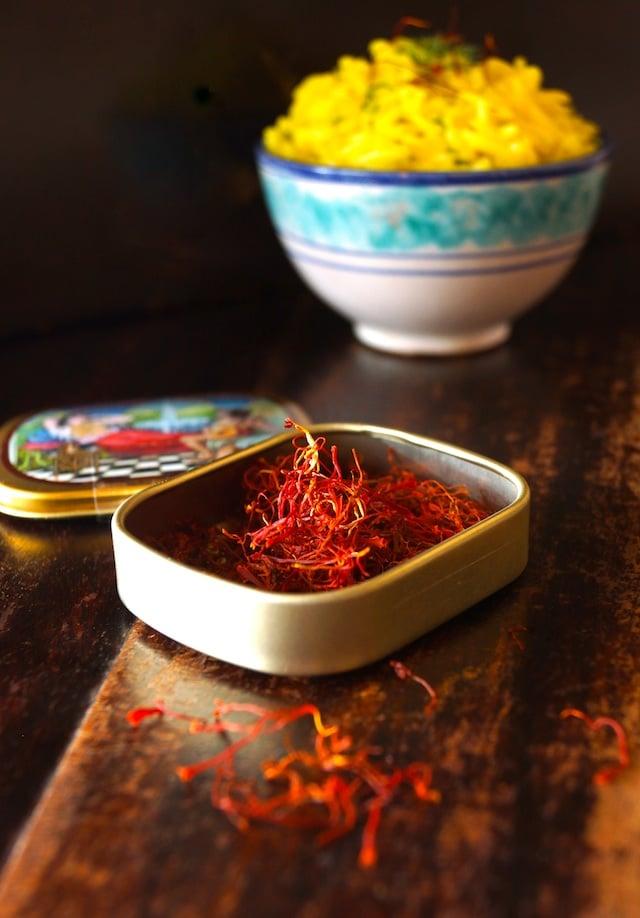 Saffron Basmati Rice Recipe with Fresh Dill -- Aromatic, pretty and ...