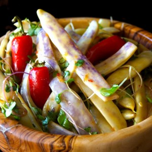 Dragon Tongue Bean Salad Recipe with Spicy Honey-Mustard